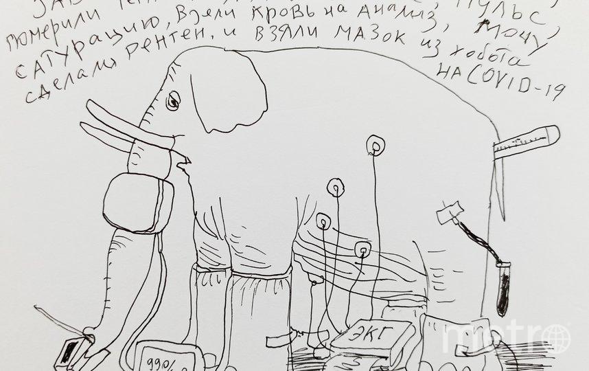"""Рисунки Александра. Фото предоставлены художником, """"Metro"""""""
