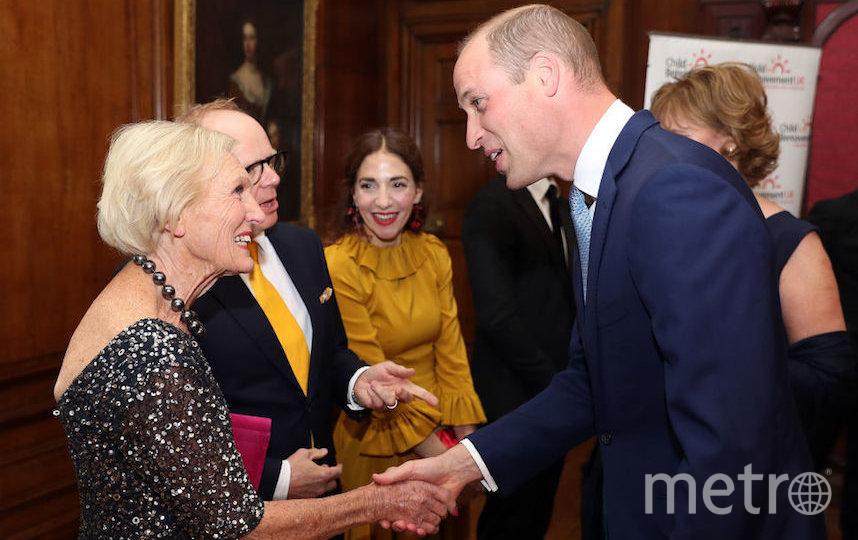 Принц Уильям и Мэри Берри. Фото Getty