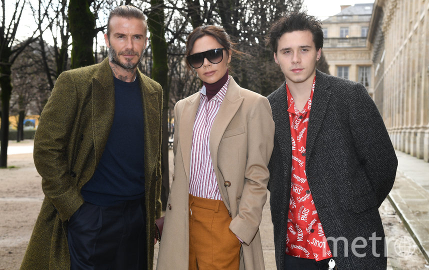 Виктория Бекхэм с мужем и сыном. Фото Getty