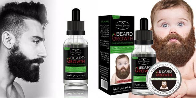 Сыворотка для усиления роста бороды и усов.