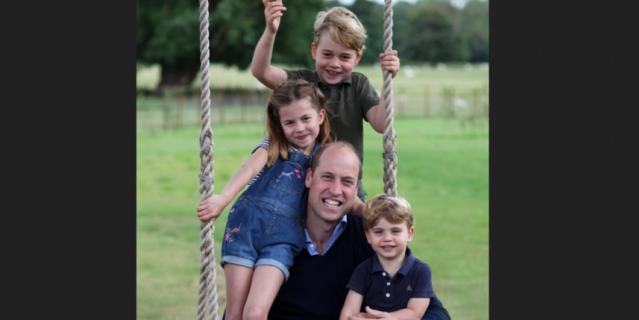 Принц Уильям с детьми в Анмерх-холле.