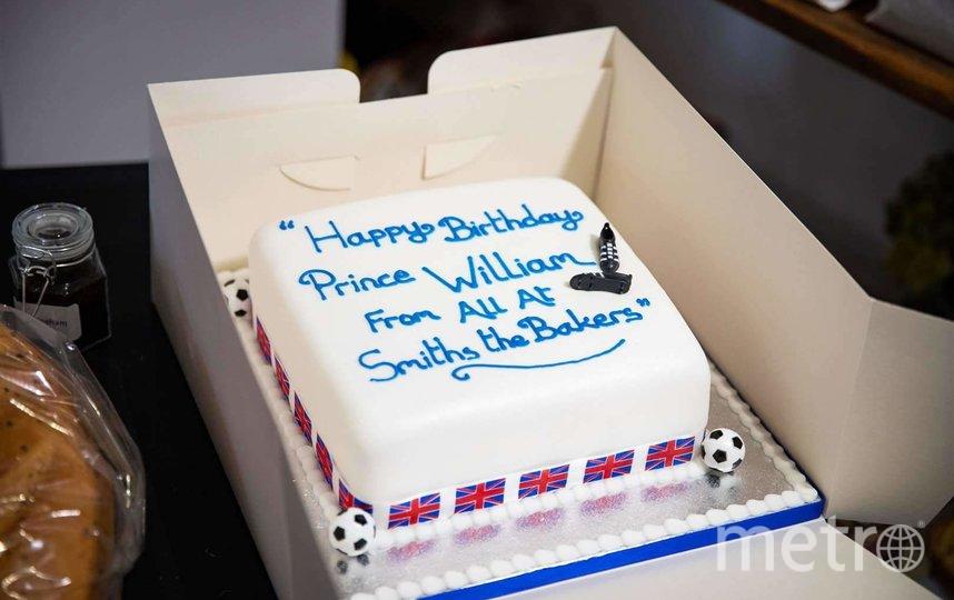 """Вот такой торт Уильяму подарили в кондитерской. Фото соцсети, """"Metro"""""""