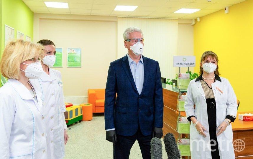Собянин заявил, что ремонт поликлиник в столице идёт полным ходом. Фото Пресс-служба Мэра и Правительства Москвы. Денис Гришкин