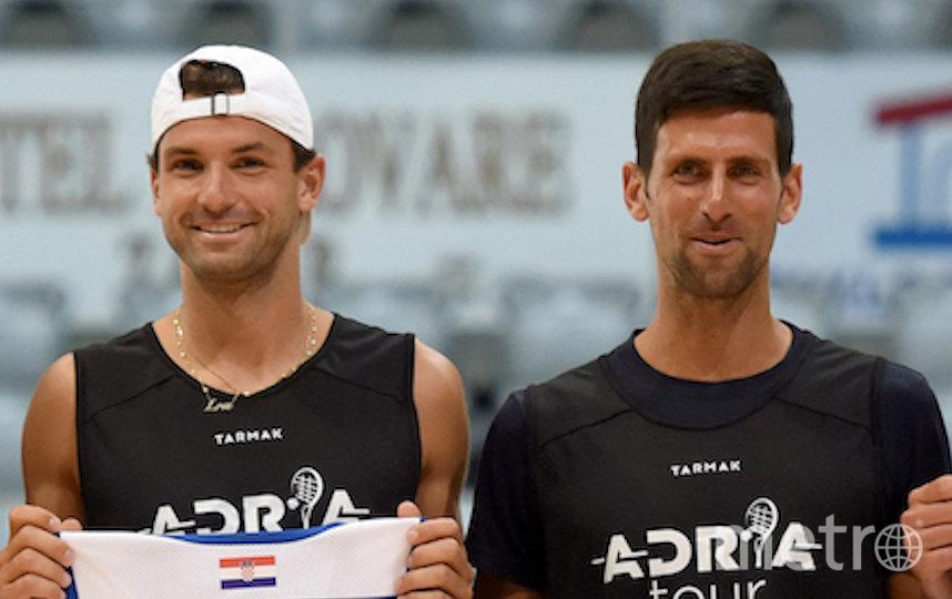 Новак Джокович и Григор Димитров. Фото AFP