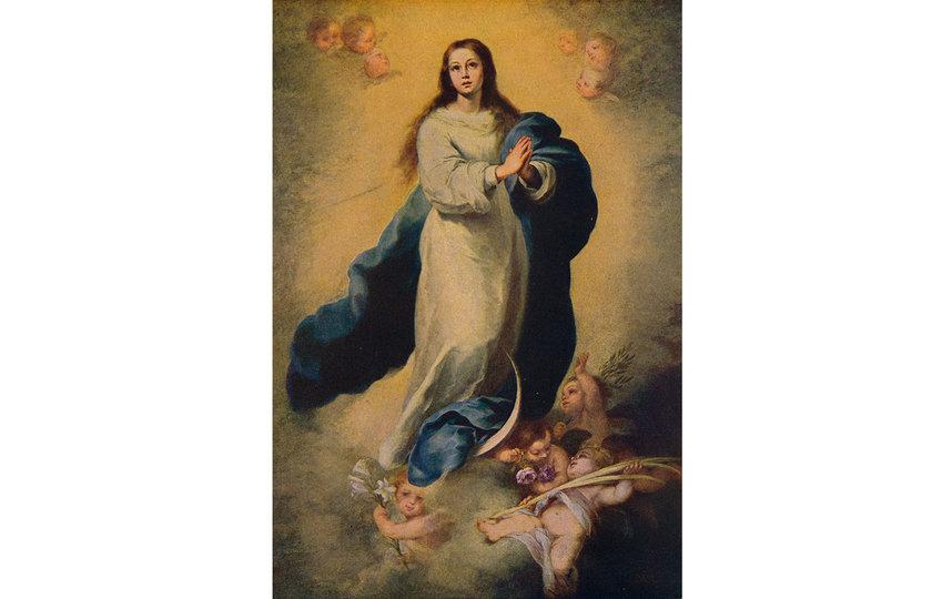 """Оригинал картины """"Непорочное зачатие Девы Марии"""" кисти испанского живописца эпохи барокко Бартоломе Эстебана Мурильо. Фото Бартоломе Эстебан Мурильо"""