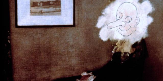 "Кадр из фильма ""Мистер Бин"" (1997)."