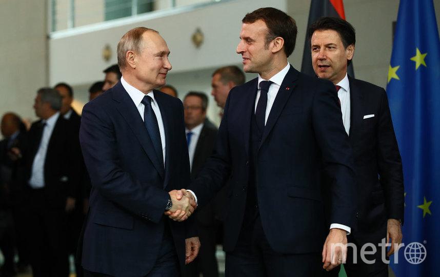 Президент РФ Владимир Путин и глава Франции Эммануэль Макрон. Фото Getty