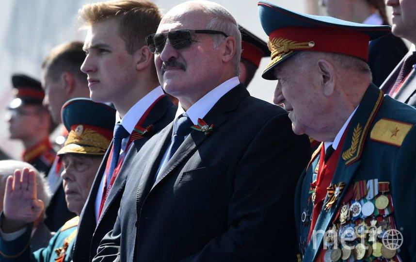 Николай сопровождал Александра Лукашенко на параде Победы в Москве. Фото AFP