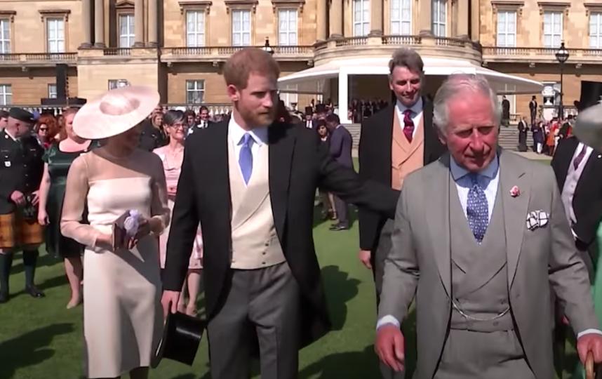 Принц Гарри и и принц Чарльз на той самой вечеринке. Фото скриншот с видео