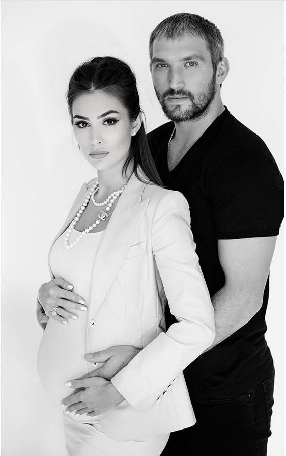 Анастасия Шубская и Александр Овечкин. Фото Instagram @nastyashubskaya