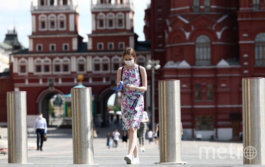 """В Москве продолжает действовать запрет на массовые мероприятие, также действует и масочный режим. Фото АГН """"Москва""""/Кирилл Зыков"""
