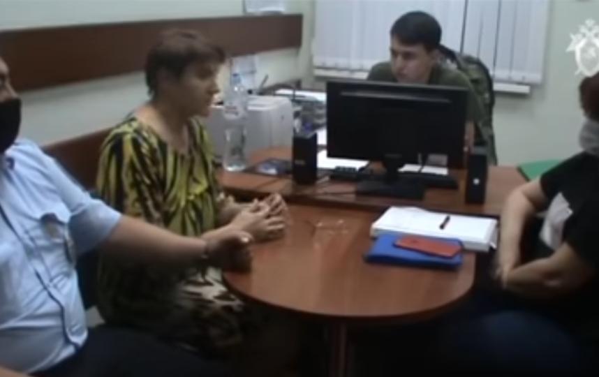 Во время допроса. Фото sledcom.ru