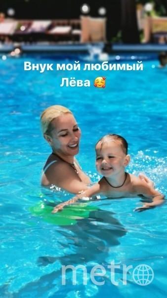 Лера Кудрявцева с внуком. Фото instagram.com/leratv.