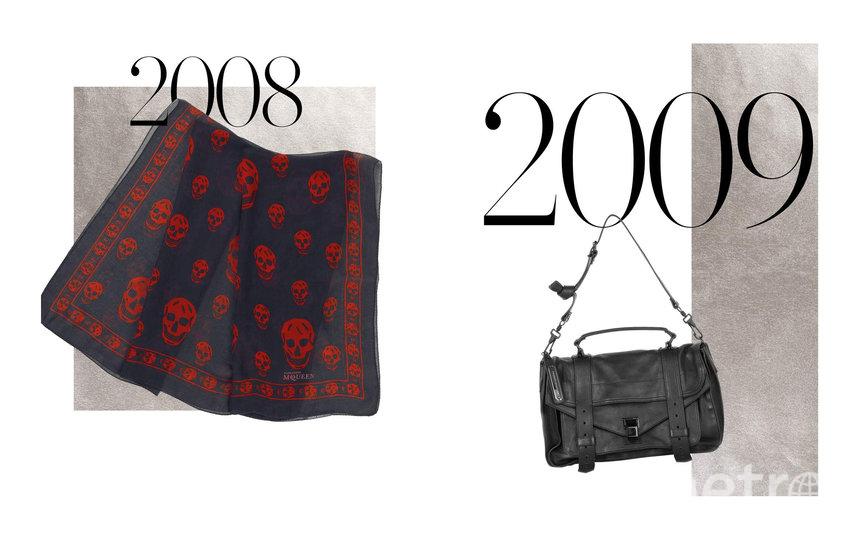 Платок с принтом черепов Alexander McQueen и сумка Proenza Schouler PS1. Фото Net-A-Porter