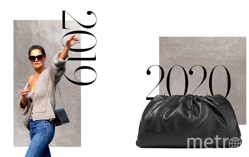 Кашемировый комплект бра и кардигана Khaite и сумка-пельмешка Bottega Veneta. Фото Net-A-Porter