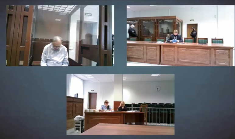 Олег Соколов в суде 29 июня. Фото скрин-шот, Скриншот Youtube