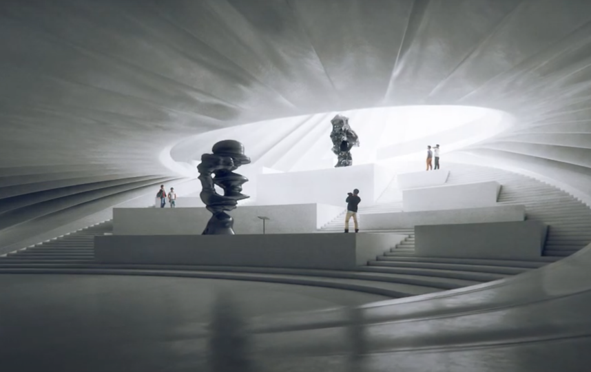 "Так постройка выглядит изнутри. Фото youtube@ MAD architects, ""Metro"""