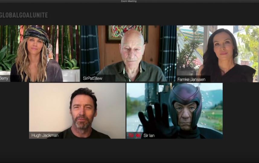 """Актёры из """"Людей Икс"""" встретились вместе, чтобы собрать средства и передать их организации Global goal: unite for our future, которая помогает тем, кто борется с пандемией коронавируса. Фото Скриншот Youtube"""