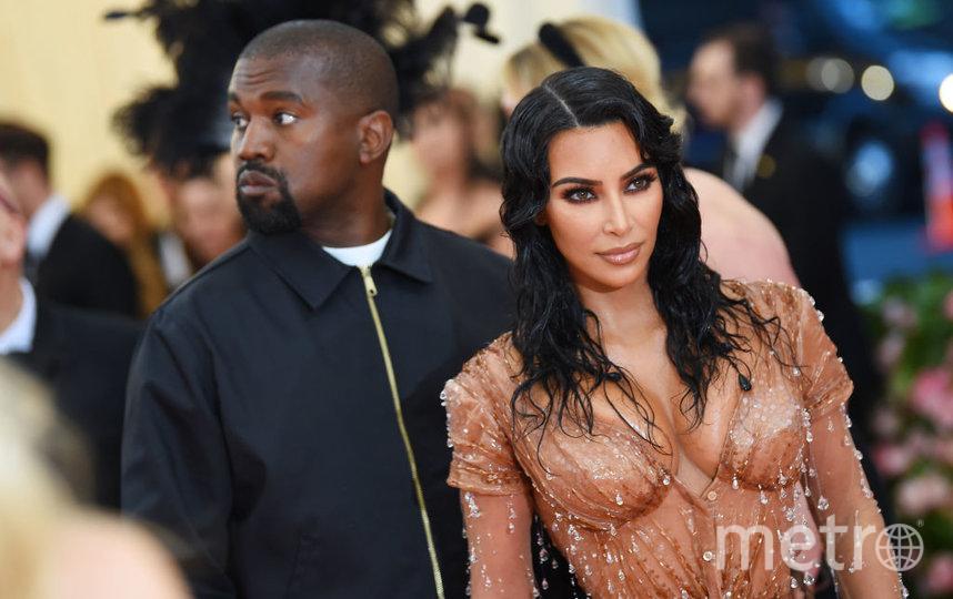 Ким Кардашьян с мужем Канье Уэстом. Фото Getty