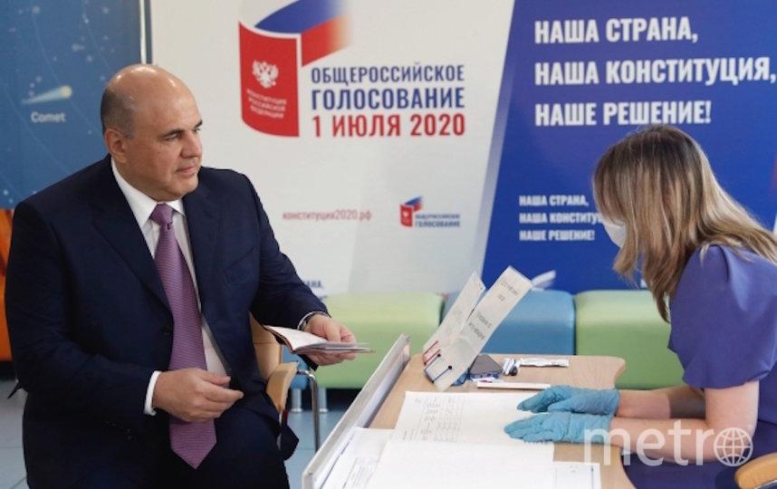 Михаил Мишустин голосует по поправкам. Фото РИА Новости