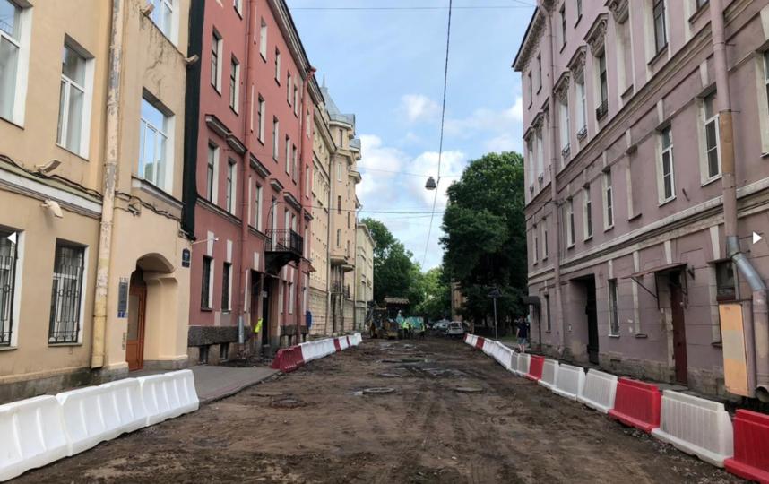 """В Тучковом переулке демонтируют брусчатку. Фото Комитет по развитию транспортной инфраструктуры, """"Metro"""""""