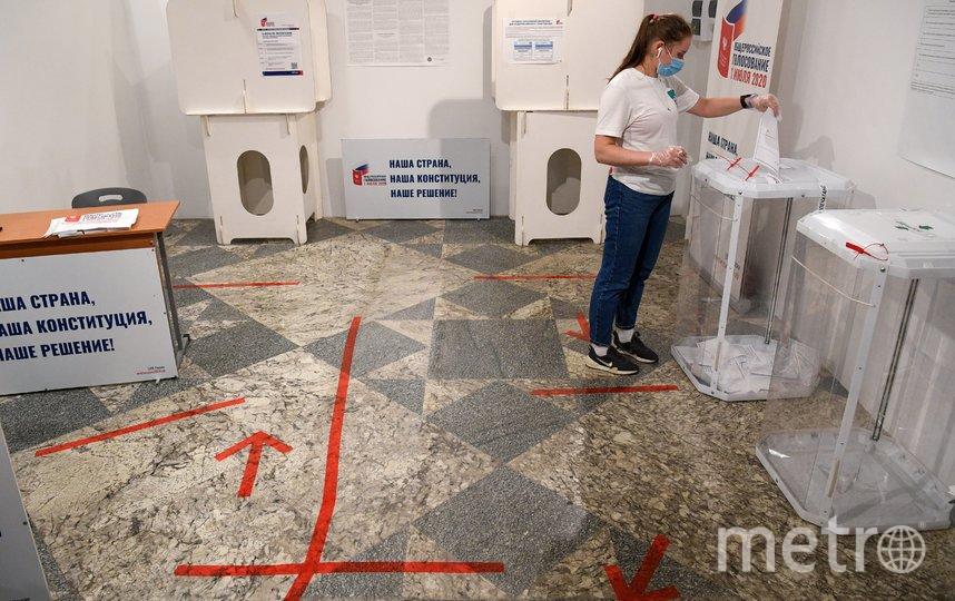 Голосование по поправкам в Конституцию РФ проходило с 25 июня по 1 июля. Фото AFP