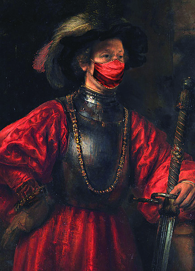 """""""Портрет человека в военной форме"""", Рембрандт ван Рейн."""