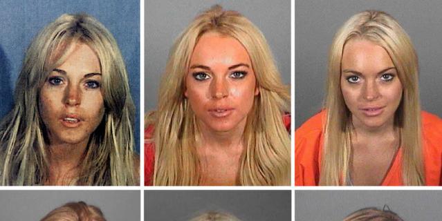 Фотографии Линдси Лохан во время ареста.