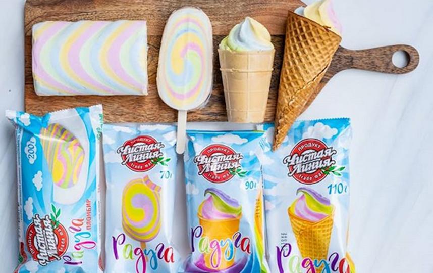 "Мороженое ""Радуга"". Фото скриншот: instagram.com/chistaya_liniya_icecream/"