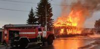 В Томской области сгорел деревянный храм XIX века: видео