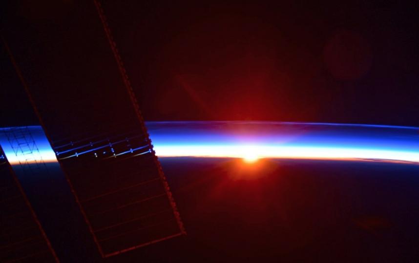 """Фотография с борта Международной космической станции. Фото Скриншот Twitter: @ivan_mks63, """"Metro"""""""