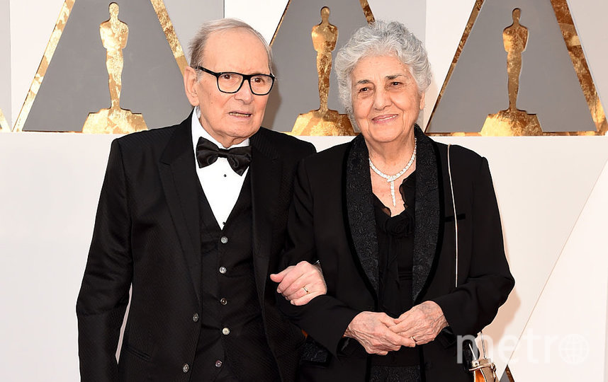 Эннио Морриконе с женой Марией. 2016 год. Фото Getty