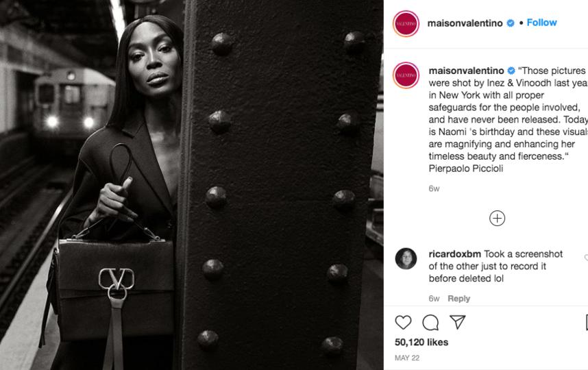 """Фотосессия аксессуаров итальянского бренда. Фото Скриншот Instagram: @maisonvalentino, """"Metro"""""""