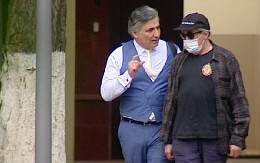 "Михаил Ефремов и Эльман Пашаев. Фото АГН ""Москва"""