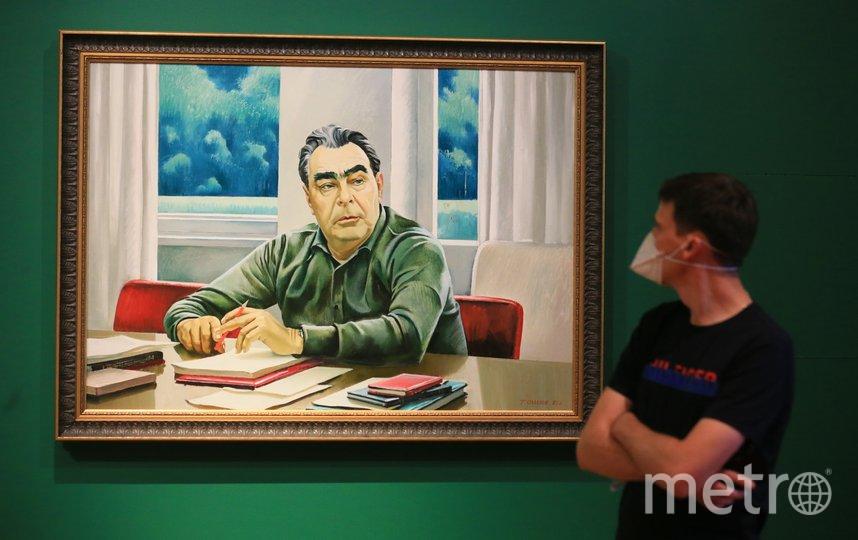 Портреты Леонида Брежнева, с именем которого и связана большая часть периода застоя, есть и на этой выставке. Фото Василий Кузьмичёнок