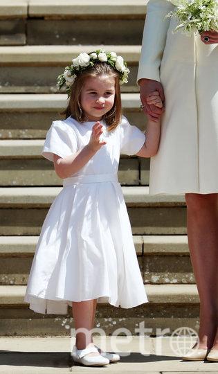 Принцесса Шарлотта на свадьбе Меган Маркл и принца Гарри. Фото Getty