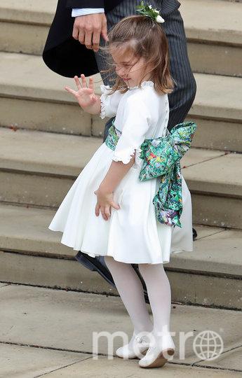 Принцесса Шарлотта на свадьбе принцессы Евгении и Джека Бруксбэнка. Фото Getty