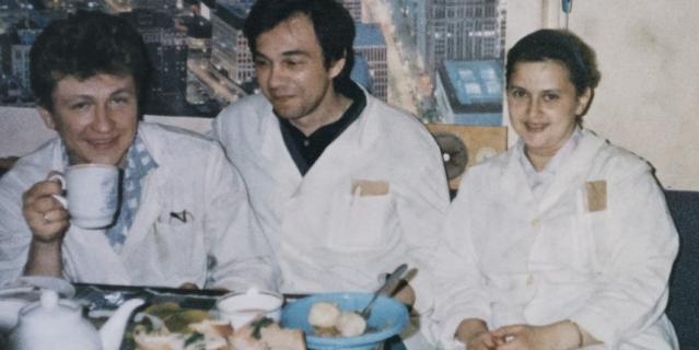 Александр и Татьяна Шутовы на работе.