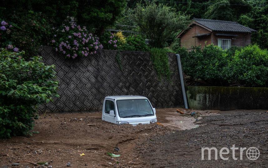 Наводнение и оползни в префектуре Кумамото на острове Кюсю в Японии. Фото Getty