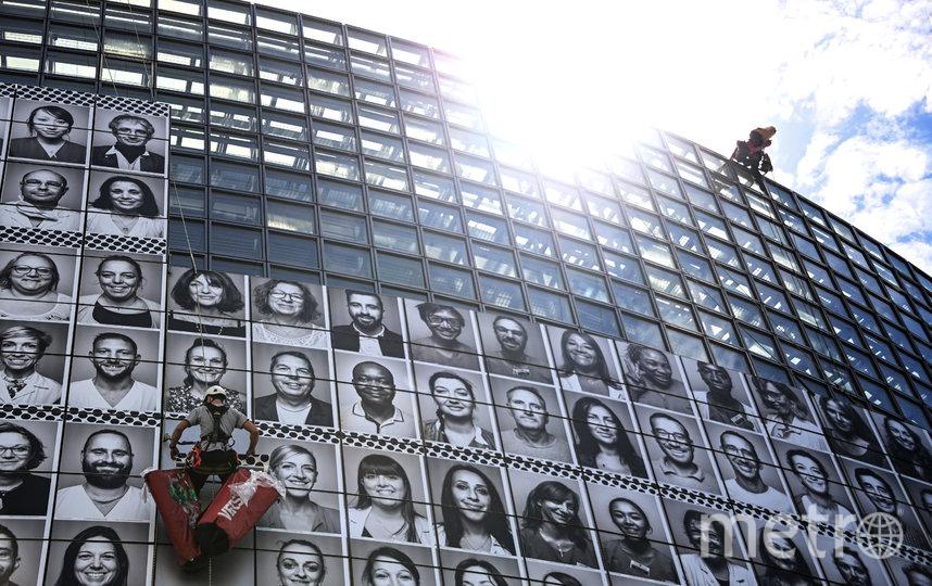 Портреты были сделаны французским фотографом JR. Фото AFP