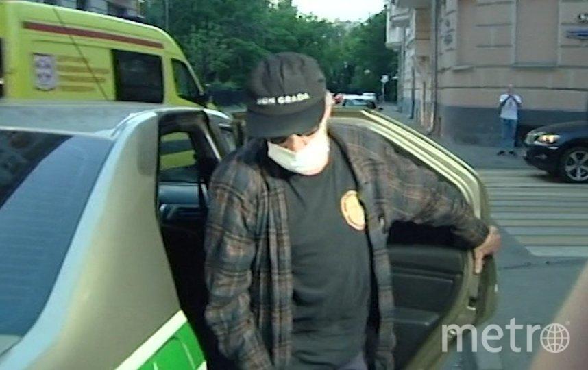 """Михаил Ефремов после допроса. Фото АГН """"Москва"""""""