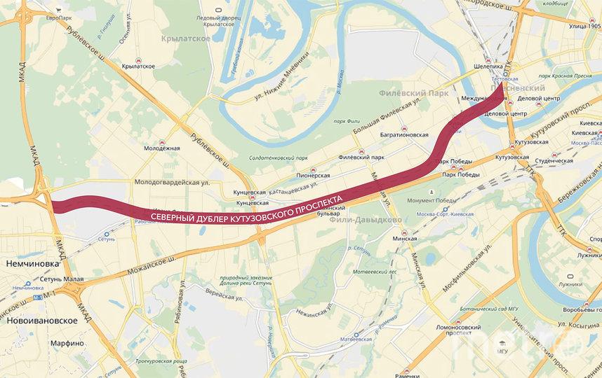 Схема будущей трассы. Фото stroi.mos.ru