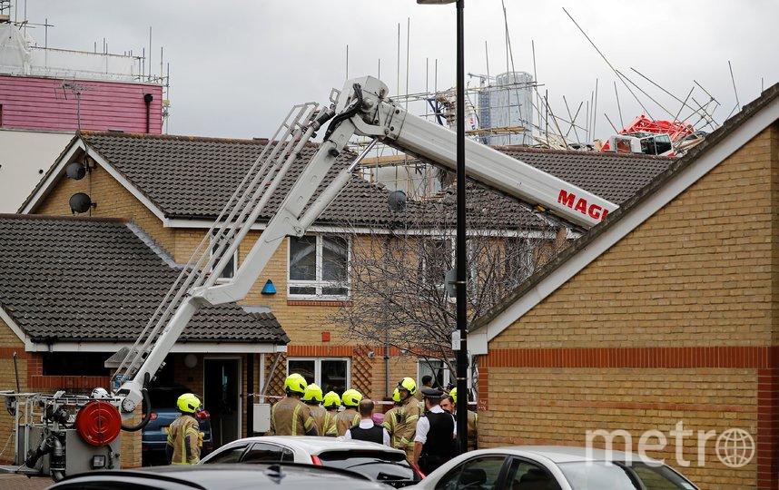 В Лондоне рухнул подъёмный кран. Фото AFP