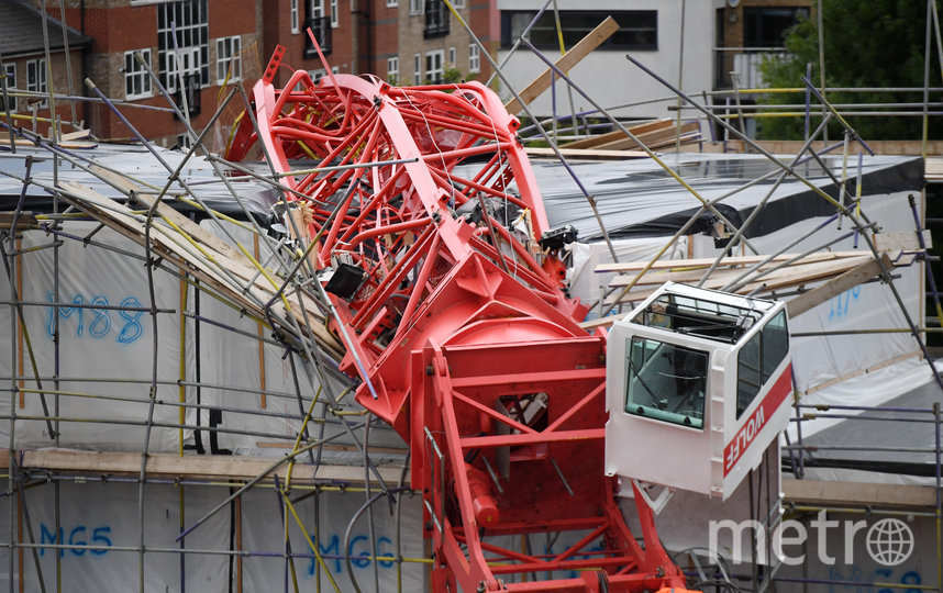 В Лондоне рухнул подъёмный кран. Фото Getty