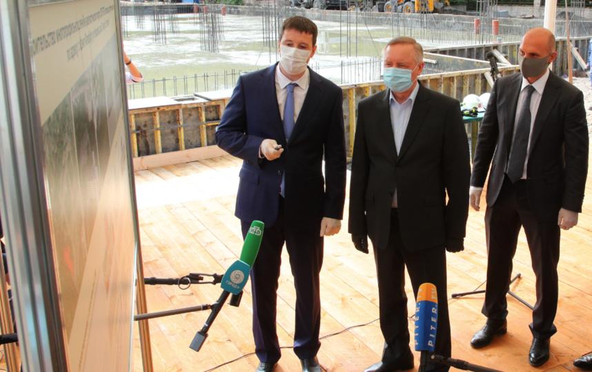 "Церемония закладки нового лечебно-диагностического корпуса. Фото gov.spb.ru, ""Metro"""