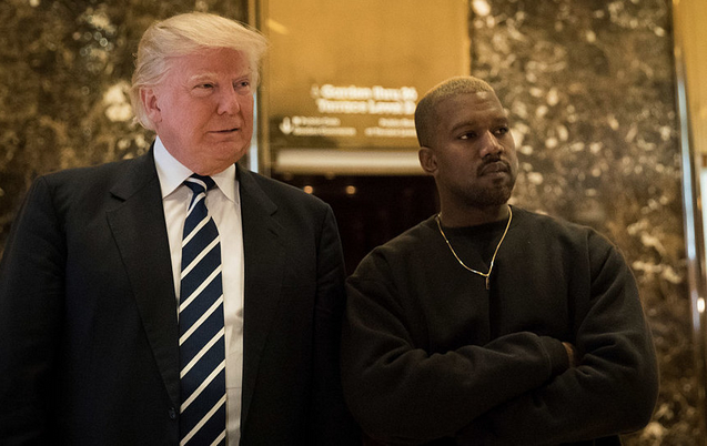 Канье Уэст и Дональд Трамп. Фото Getty