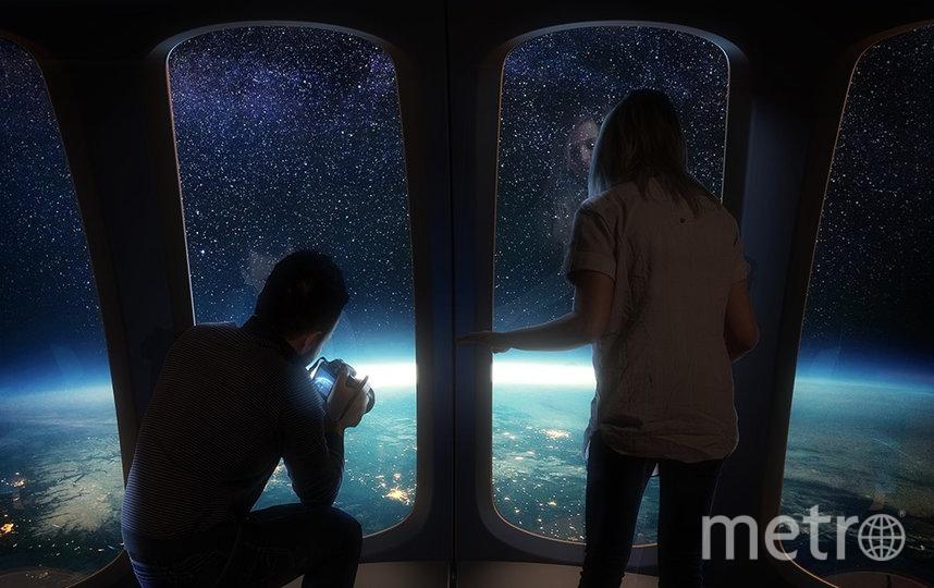 Из кабины Spaceship Neptune туристы смогут наблюдать Землю. Фото Space Perspective