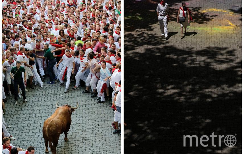 Знаменитый забег с быками, несмотря на постоянную критику со стороны зоозащитников, привлекал в город тысячи туристов. Фото Getty