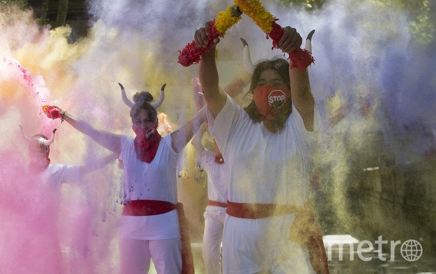 Зоозащитники отпраздновали отмену фиесты Сан-Фермин. Фото AFP