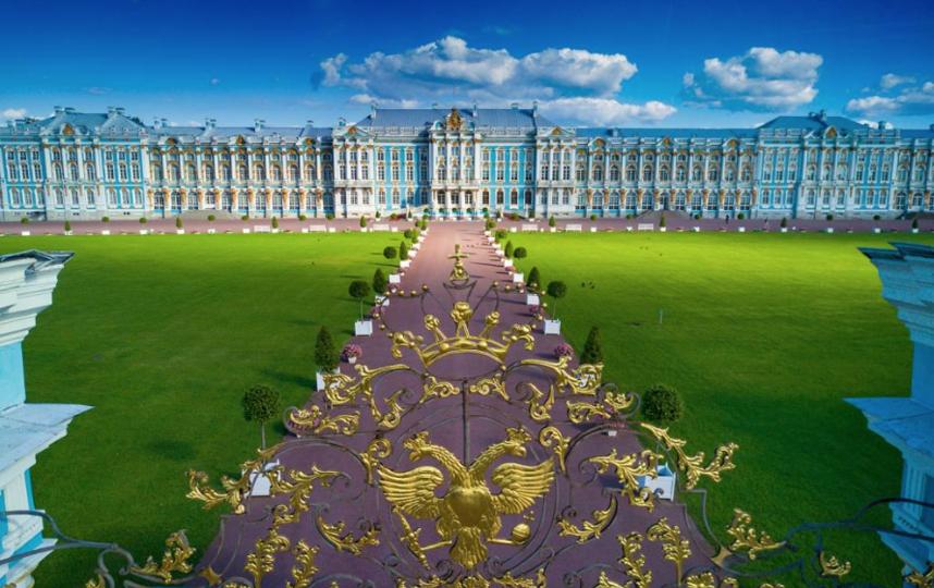 "Вид на Екатерининский дворец. Фото https://tzar.ru/, ""Metro"""